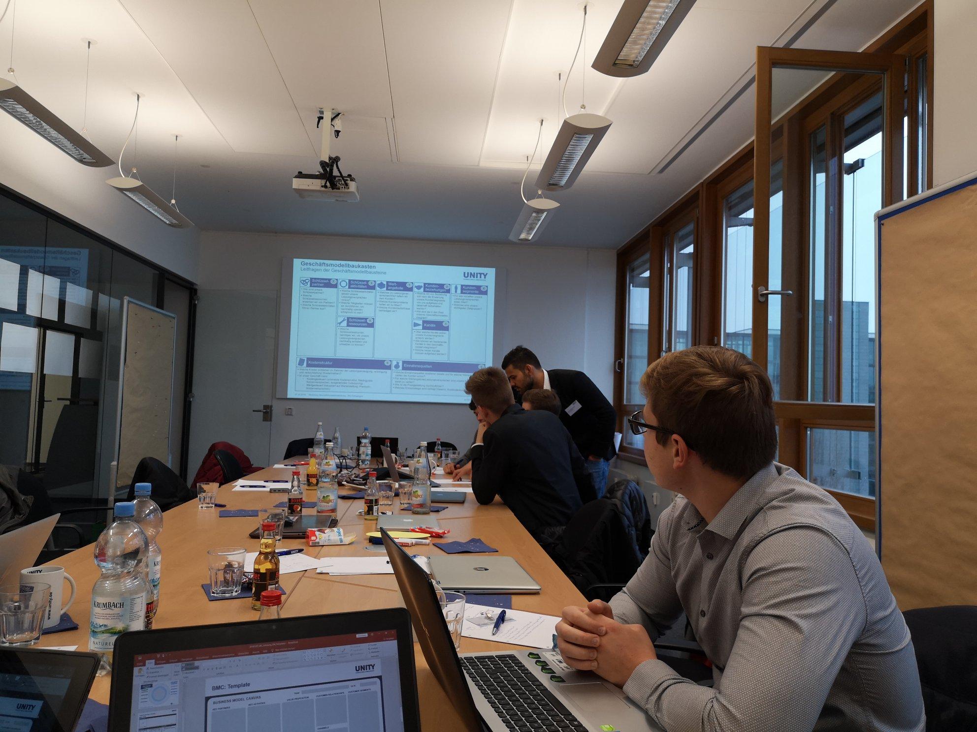 Schulung Geschäftsmodellentwicklung (Unity AG)