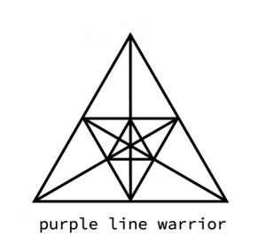 Logo purple line warrior